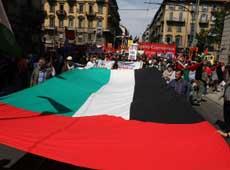 Manifestazione a sostegno di Gaza