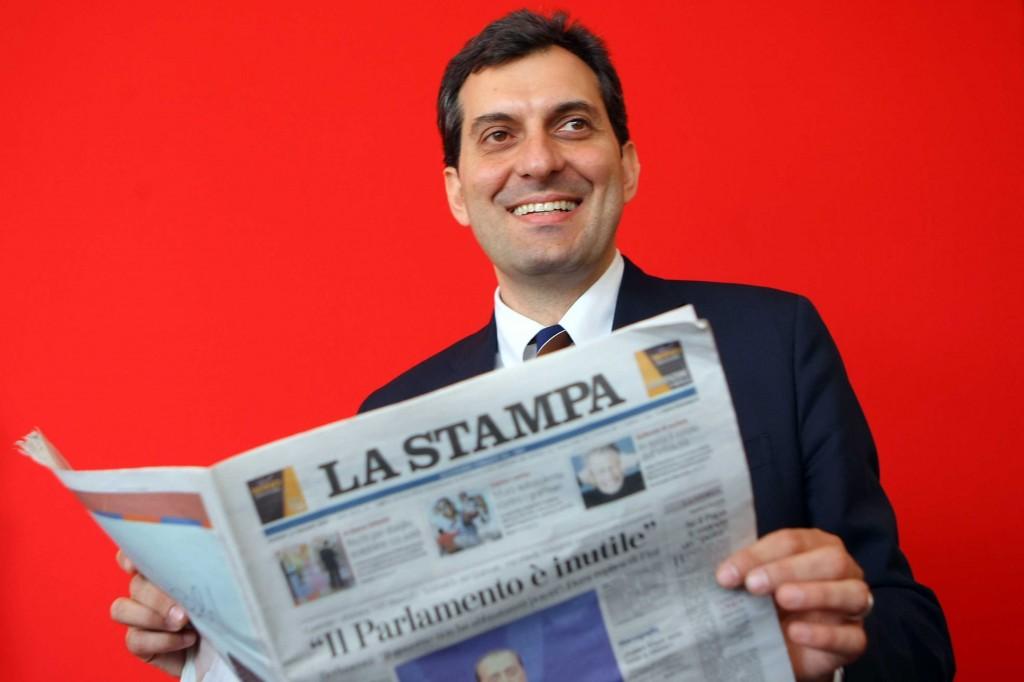 Il direttore de La Stampa, Mario Calabresi