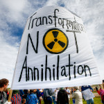 Protest At New Bomb Parts Plant